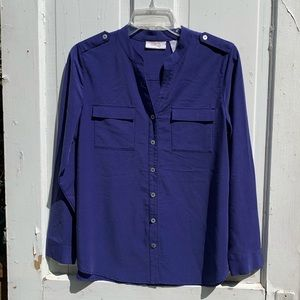 Chico's Size 0 Button Down Top